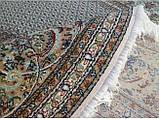 Круглий килим в різних розмірах сіро-блакитний, фото 3