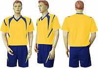 Форма футбольная Ф13 желто-синяя СОБСТВЕННОЕ ПРОИЗВОДСТВО