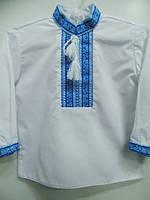 Вишиванка для хлопчика: Івасик орнамент синій