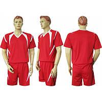 Форма футбольная Ф13 красно-белая  СОБСТВЕННОЕ ПРОИЗВОДСТВО