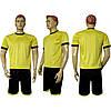 Форма футбольная Ф11 желто-черная СОБСТВЕННОЕ ПРОИЗВОДСТВО