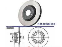 Тормозной диск передний R16 вентилятора D305 RENAULT TRAFIC 00-14 (РЕНО ТРАФИК), фото 1