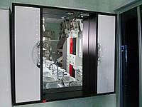 Зеркало в ванную З-11 ВР Николь 80 см (белое с венге)
