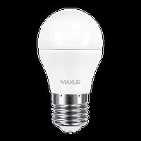 Лампа светодиодная MAXUS (2-LED-541-01) G45 6W 3000K 220V E27 (по 2 шт.)