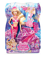 Кукла Барби Жемчужная принцесса Лумина русалка с волшебным хвостом Barbie Mattel (волосы в воде меняют цвет)