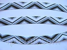 Трикотажная бейка, резинка с рисунком, 16 мм
