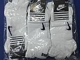 Шкарпетки короткі білі Nike спорт, фото 6
