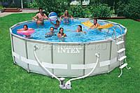 Каркасный круглый бассейн ULTRA FRAME POOL Intex 28326(54470), бассейн каркасный с полным комплектом 488*122см