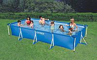 Каркасный бассейн SMALL FRAME POOL Intex 28273(58982), прямоугольный бассейн на дачу 450*220*84см