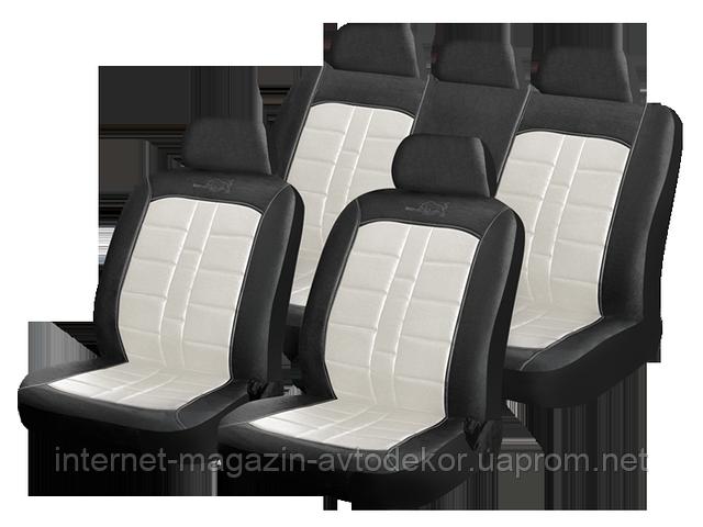 Чехлы на сиденья, кожзам H&R Rodeo (Израиль), белые