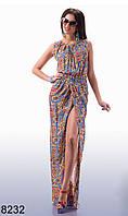 Длинное летнее платье в пол (р. 42, 44)