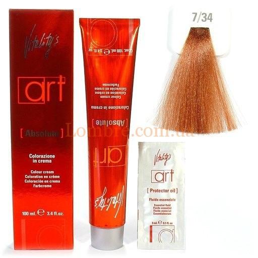 7/34 Золотисто-мідний блондин Vitality's Art Absolute Фарба для волосся з масляним коктейлем 100 мл