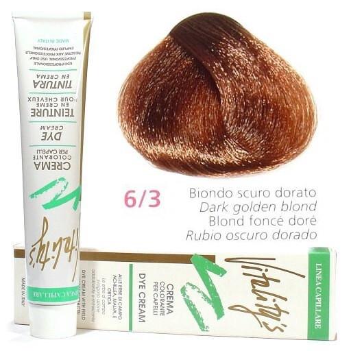 6/3 Золотистий темний блондин VITALITY'S Collection Фарба для волосся з екстрактами трав, 100 мл
