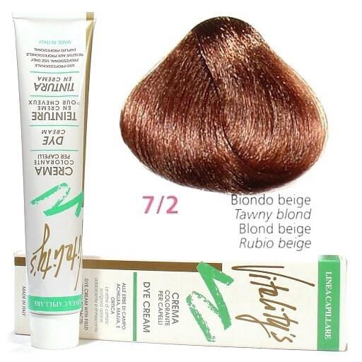7/2 Бежевий блондин VITALITY'S Collection Фарба для волосся з екстрактами трав, 100 мл