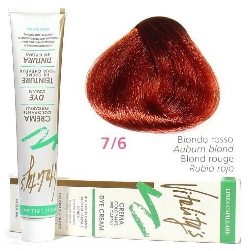 7/6 Червоний блондин VITALITY'S Collection Фарба для волосся з екстрактами трав, 100 мл