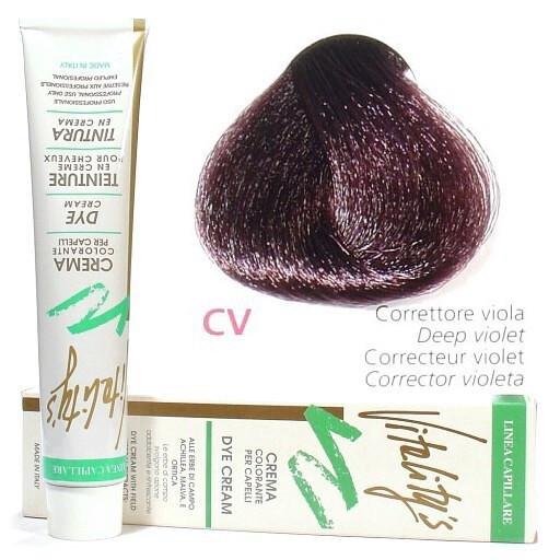 CV Інтенсивно-фіолетовий коректор VITALITY'S Collection Фарба для волосся з екстрактами трав, 100 мл