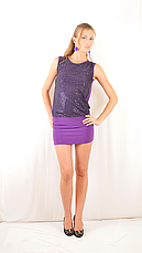 Яркое красивое стильное коктейльное платье-мини с  открытой спинкой, сиреневое., фото 3