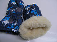 Варежки на меху - сноуборд