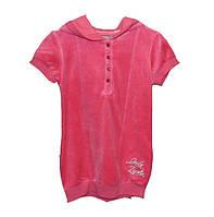 Детская велюровая туника для девочки р 116 см