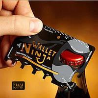 Мультитул кредитка Ninja Wallet 18 в 1