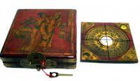 Компас Фен-Шуй под старину средний  дерево, метал. В деревянной коробке.