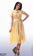 Летнее женское коттоновое платье (р. 42, 44, 46)