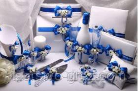 Набор свадебный Flowers blue