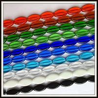 Бусины Овал плоский стекло
