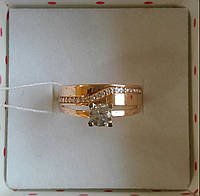 Золотое кольцо с фианитами, фото 1