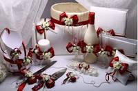 Набор свадебный Flowers bordo, фото 1