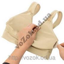 Бесшовный бюстгальтер Genie Bra Гении бра с вкладками (чашечками) для поддерживания груди, фото 2