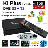Гибридный Android TV Box Videostrong K1 Plus Combo + DVB T2/S2, Amlogic S905, 1/8Gb, Android 5.1.
