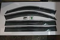 Дефлекторы окон (ветровики) для Chevrolet Captiva 06- (с хромом)