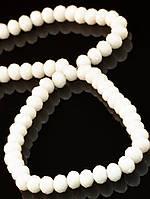 6 мм., Бусины из чешского хрусталя, стекла 48 см. 025430 гамма: Белый фурнитура для создания украшений и бижутерии
