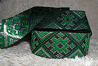 Тесьма декоративная с тканым орнаментом. 30мм
