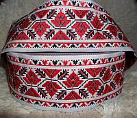 Тесьма декоративная с тканым орнаментом. 50 мм