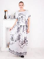 Длинное платье из шифона с принтом