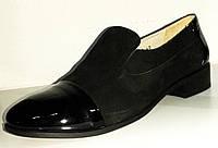 Туфли с лаковой вставкой (на низком ходу) / shoes 10162-03/06