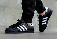 Мужские кроссовки Adidas Superstar Black/White , фото 1