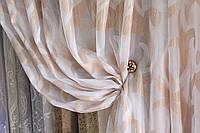 Тюль (гардина , занавес )  рисунок на полуорганзе , фото 1