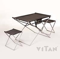 Комплект туристической мебели тканевой вес 4,5 кг (стол и 2 стула в тубусе)