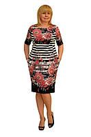 """Платье """"Сити""""  - Модель 1349-2 (замена ткани как под фото) (50р) (ф)"""