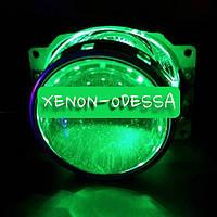 ЗЕЛЕНЫЕ Дьявольские Глазки 360 для подсветки любых линз / 360 Devil Eyes Rings for Projector Lens (GREEN)