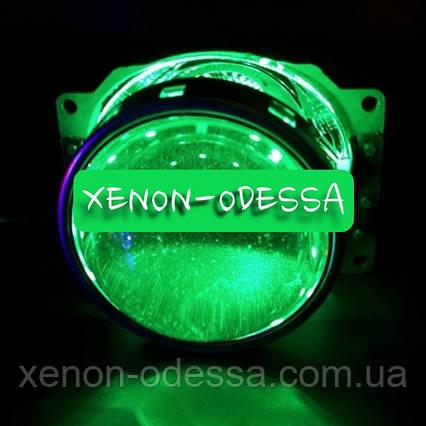 ЗЕЛЕНЫЕ Дьявольские Глаза 360 для подсветки любых линз / 360 Devil Eyes Rings for Projector Lens (GREEN), фото 2
