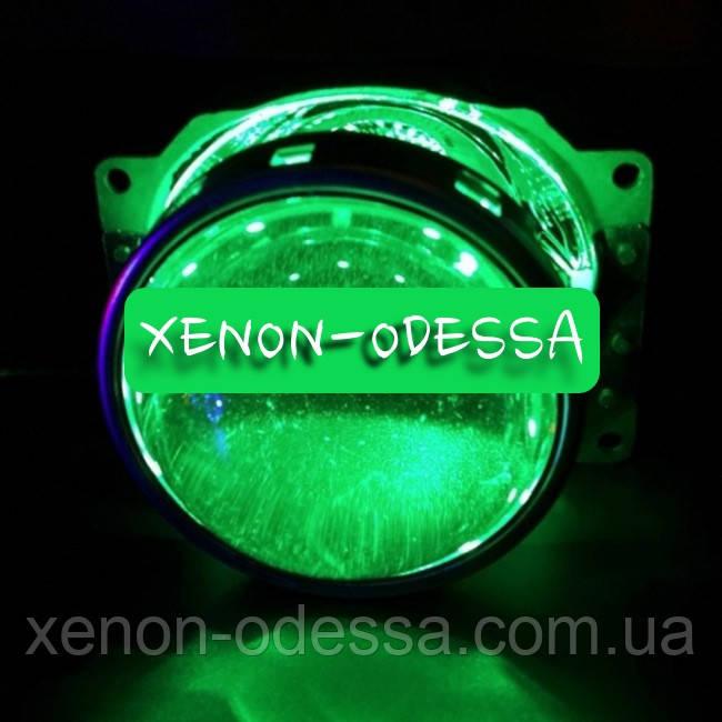 ЗЕЛЕНЫЕ Дьявольские Глаза 360 для подсветки любых линз / 360 Devil Eyes Rings for Projector Lens (GREEN)
