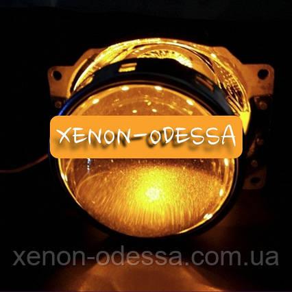 ЖЕЛТЫЕ Дьявольские Глаза 360 для подсветки любых линз / 360 Devil Eyes Rings for Projector Lens (YELLOW), фото 2