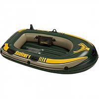 Одноместная надувная лодка с надувным дном Intex 68345 Seahawk 1, лодка надувная 1 местная 193*108*38см