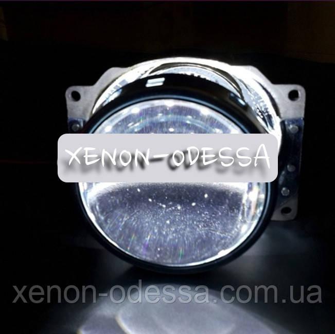 БЕЛЫЕ Дьявольские Глазки 360 для подсветки любых линз / 360 Devil Eyes Rings for Projector Lens (WHITE)