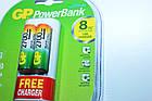 Зарядное устройство GP Power Bank  АА-ААА плюс 2 аккумулятора AA 2700мА-ч, фото 4