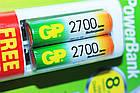 Зарядное устройство GP Power Bank  АА-ААА плюс 2 аккумулятора AA 2700мА-ч, фото 6